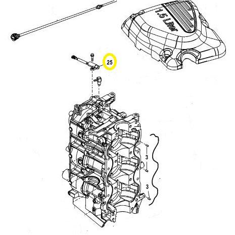 Sensor Mariner Mercury 100 225 Cv Efi Detail